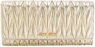 Miu Miu (ミュウミュウ) - Miu Miu フラップ 長財布