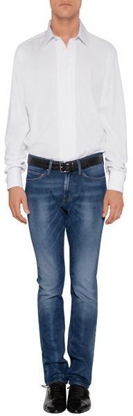 Baldessarini White Cotton Modern Kent Evening Shirt