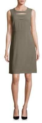 Peserico Sleeveless Jewelneck Dress