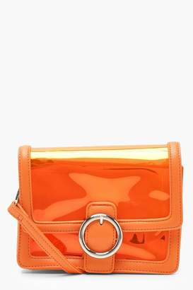 boohoo Round Ring Clear Cross Body With Inner Bag