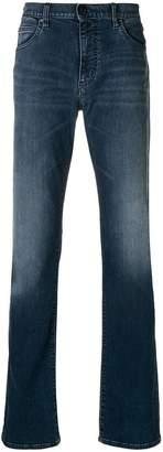 Emporio Armani stretch mid-rise straight leg jeans