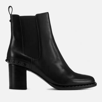 Ash Women's Vertigo Leather Heeled Chelsea Boots - Black/Black