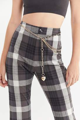 Urban Outfitters Gold + Leather Combo Chain Belt