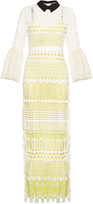 SELF-PORTRAIT Bell-sleeved guipure-lace dress $773 thestylecure.com