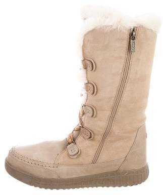 Pajar Suede Shearling-Trimmed Boots