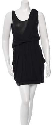 A.L.C. Sleeveless Draped Mini Dress