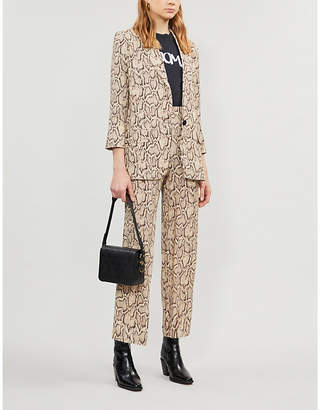 The Kooples Snake-print woven blazer