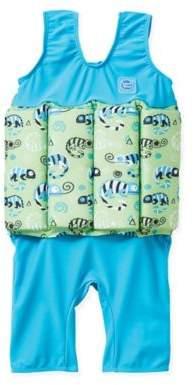 Splash About Size 4-6Y 2-Piece Short John Floatsuit in Green/Blue