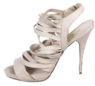 Elizabeth and James Leather Multistrap Sandals