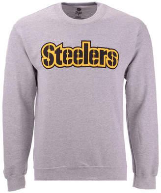 cb512f20e Authentic Nfl Apparel Men Pittsburgh Steelers Gunslinger Crew Neck  Sweatshirt