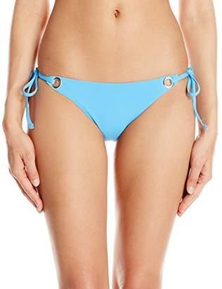 Mara Hoffman Women's Grommet Tie Side Bikini Bottom Swimsuit