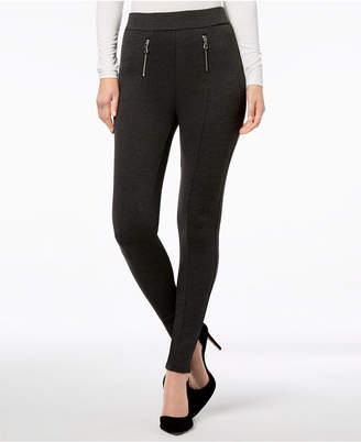 INC International Concepts I.n.c. Zippered Menswear-Print Leggings, Created for Macy's