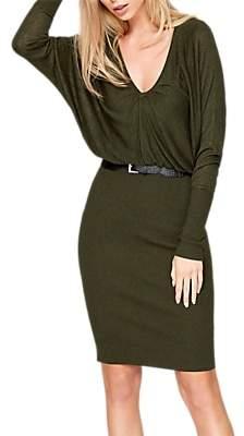 Damsel in a Dress Akira Blouson Knitted Dress, Khaki