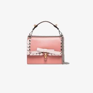 Fendi pink Kan I leather shoulder bag