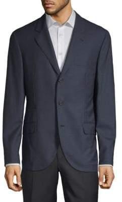 Brunello Cucinelli Grid Wool Sportcoat