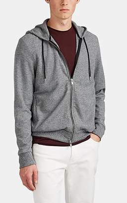 Theory Men's Waffle-Knit Zip-Front Hoodie - Gray