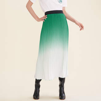Maje Pleated tie-dye skirt