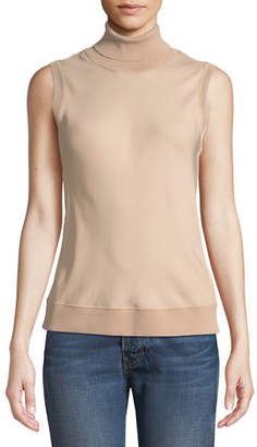 ceda590ef3ad0 Theory Silk Bias Turtleneck Sleeveless Top