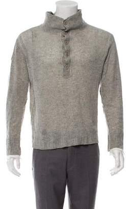 Inhabit Mock Neck Henley Sweater