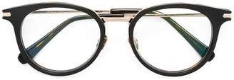 Brioni metallic round frame glasses