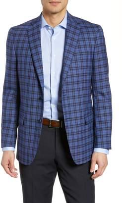 Hart Schaffner Marx Classic Fit Stretch Plaid Wool Sport Coat