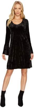 Karen Kane Velvet Bell Sleeve Dress Women's Dress
