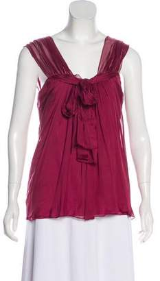 Alberta Ferretti Silk Sleeveless Top