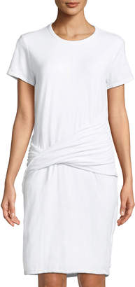 James Perse Twist-Waist T-Shirt Dress