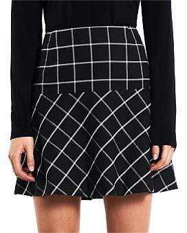 Marcs Women Window Pane Check Skirt