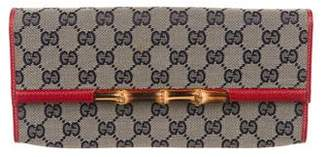 Gucci GG Canvas Bamboo Bar Clutch