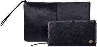 MAHI Leather - Matching Clutch & Purse Gift Set In Black Pony Hair Leather