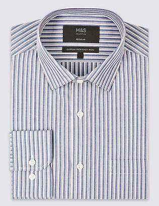 Marks and Spencer Cotton Rich Regular Fit Shirt with Pocket