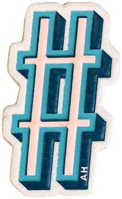 Anya Hindmarch hashtag symbol sticker
