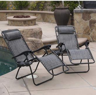 Zero Gravity Zipcode Design Winnett Chaise Lounge with Cushion