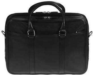 MANCINI Colombian RFID-Secure Leather Briefcase