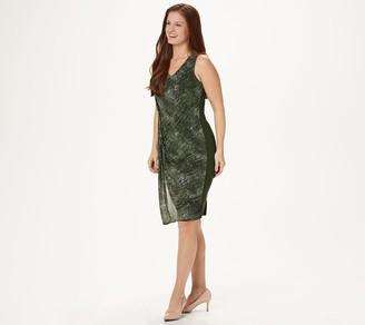 Lisa Rinna Collection Printed Gathered Waist Dress