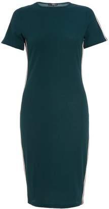 Dorothy Perkins Womens *Quiz Bottle Green Striped Bodycon Dress