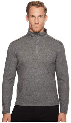 Calvin Klein Jacquard Mock Neck 1/4 Zip Sweater Men's Sweater