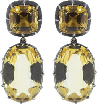 Fred Leighton Citrine Double Pendant Earrings