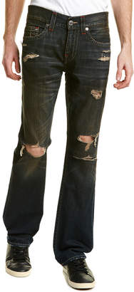 True Religion Runstitch Bourbon Sky Straight Leg