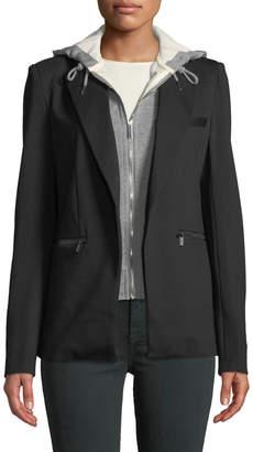 Bagatelle Twofer Hooded Blazer Jacket