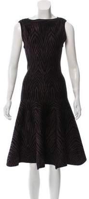 Alaia Zebra Print A-Line Dress
