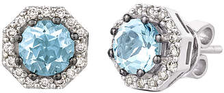 LeVian Le Vian 14K 1.25 Ct. Tw. Diamond & Aquamarine Earrings