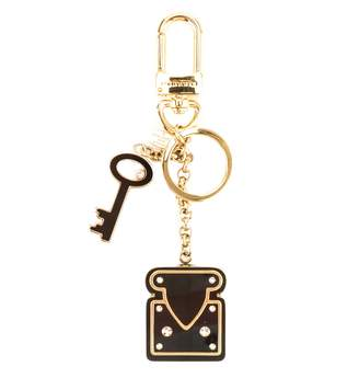 Louis Vuitton Gold Metal Crystal Lock Key Holder (Pre Owned)