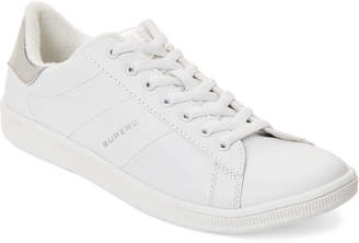 Superdry White & Silver Harper Low-Top Sneakers
