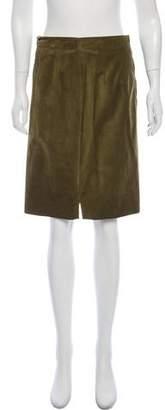 Christian Dior Knee-Length Suede Skirt