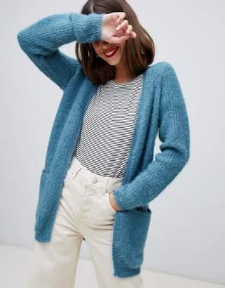 Vero Moda fluffy cardigan in blue