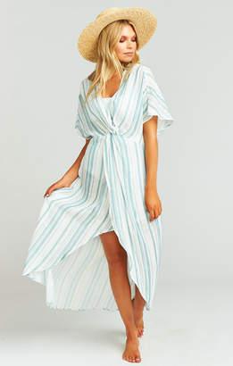 Show Me Your Mumu Get Twisted Maxi Dress ~ Point Dume Stripe