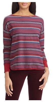 Chaps Petite Striped Boatneck Sweater