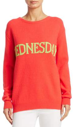 Alberta Ferretti Wednesday Intarsia Sweater